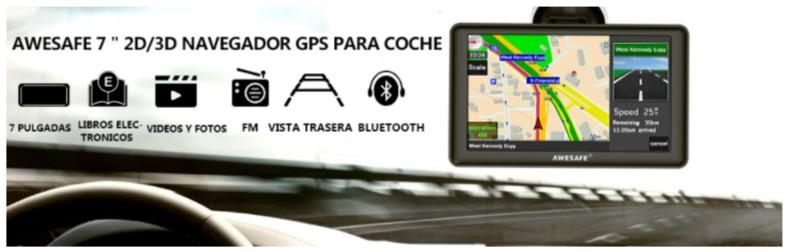 AWESAFE GPS para Coches con 7 Pulgadas