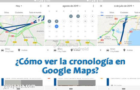 Cómo ver la cronología en Google Maps
