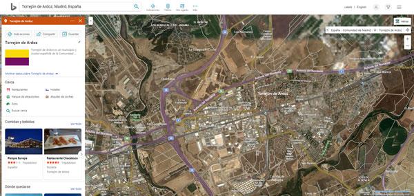 mapa de torrejon de ardoz satelite