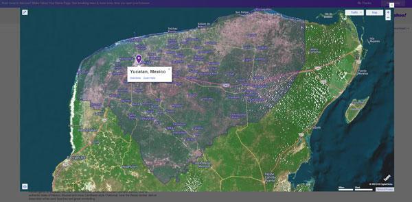 mapa de yucatan satelital